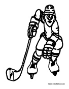 NHL Hockey Coloring Page