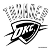 Oklahoma City Thunder Coloring Page