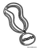 Olympic Medal Coloring Pages