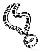 olympic medal coloring pages Olympic Gold Medal Clip Art  Gold Medal Coloring Page