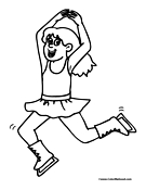Figure Skating Coloring Page 1