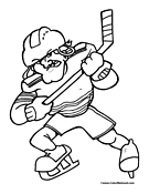 Ice hockey coloring pages for Ice hockey coloring pages