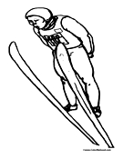 Skiing Coloring Page 2