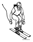 Skiing Coloring Page 3