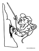 mountain climber coloring pages - photo#26