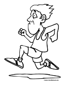 running the race coloring pages - photo#31