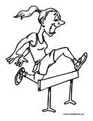 Girl Track Coloring Page Man Running