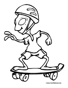 Skateboard Coloring Pages   Skateboarding Coloring Pages