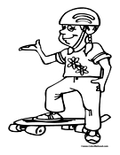 Skateboarder Coloring Page 6