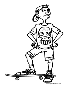 Skateboarding Coloring Page 9