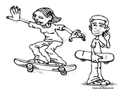 Skateboarding Coloring Page 10