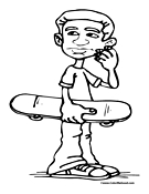 Skateboarder Coloring Page 11