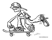 Skateboarder Coloring Page 13