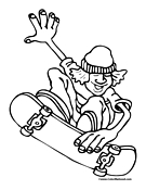 Skateboard Trick Coloring Page