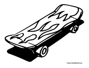Skateboard Coloring Pages | Skateboarding Coloring Pages