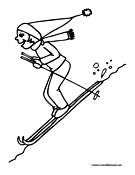 Skiing Coloring Page 5