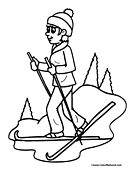 Skiing Coloring Page 7