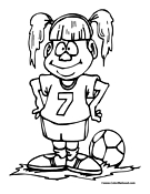 Soccer Coloring Page 1