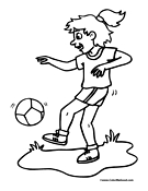 Soccer Coloring Page 5