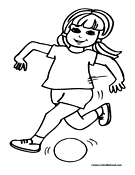 Soccer Coloring Page 6