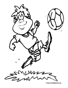 Soccer Coloring Page 7