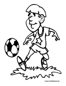 Soccer Coloring Page 8