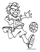 Soccer Player Coloring Page 9