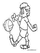 Soccer Player Coloring Page 10