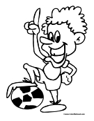 Soccer Player Coloring Page 11