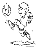Soccer Player Coloring Page 12