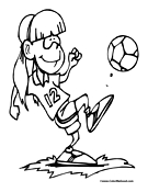 Soccer Player Coloring Page 13