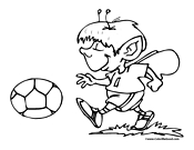 Fairy Playing Soccer Picture