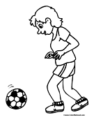 Soccer Coloring Page 17
