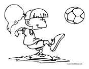 soccer coloring page 19 girl soccer player cartoon