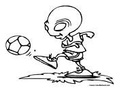 Alien Playing Soccer Picture