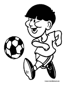 Soccer Coloring Page 22
