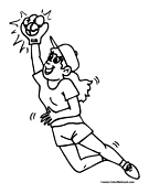 Softball Coloring Page 5