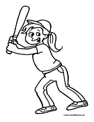 Softball Coloring Page 6