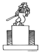 Softball Trophy Coloring Page