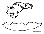 Swimming Coloring Page 2