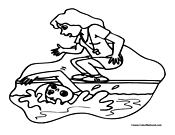 Swimming Coloring Page 8