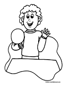 Ping Pong Coloring Page 1