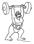 Weightlifting Coloring Page 2