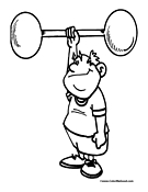 Weightlifting Coloring Page 3