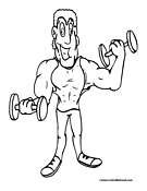 Weightlifting Coloring Page 5