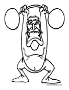 Weightlifting Coloring Page 8