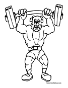 Weightlifting Coloring Page 10