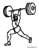 Weight Lifter Lifting