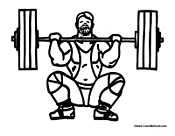Powerlifter Weight Training