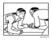 Pro Wrestling Coloring Page
